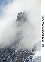 fog - Fog in the mountains, Chamonix, France