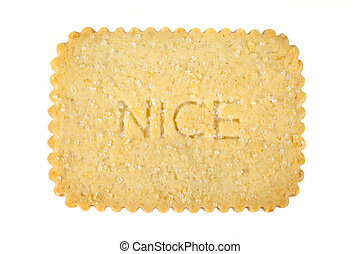 Nice Biscuit - A Nice Biscuit over a plain white background.
