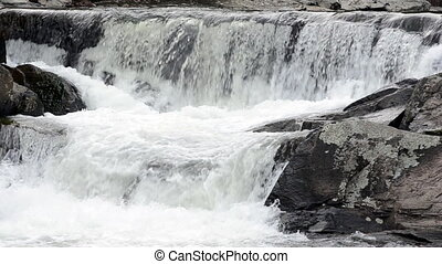 Small Falls at Linville Falls - A small set of waterfalls at...