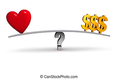 Follow Your Heart Or Your Wallet? - A bright, red heart and...