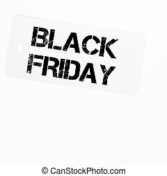 Black Friday sale tag isolated on white background with copy...