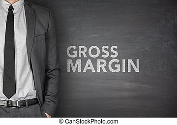 Gross margin on blackboard - Gross margin on black...