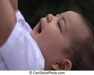 Happy Baby, Smiling Infant, Laughing Newborn