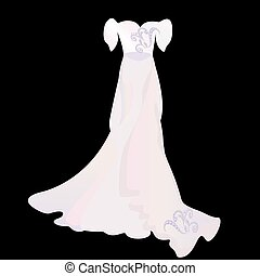 elegant dress with a pattern.eps