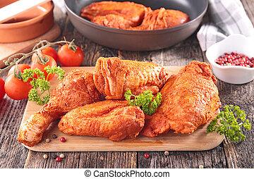 paprika chicken on board