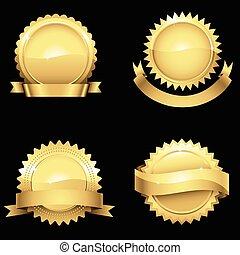 Glossy Gold Seals