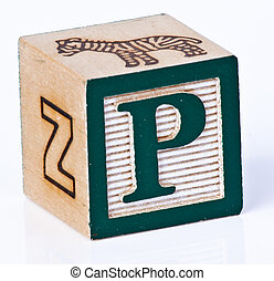 Childs Block Letter P - Kids playing block letter P