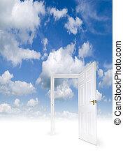 Open door in the sky - An open door in a heavenly...