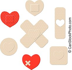 Heart shaped bandages