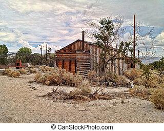 Abandoned Desert House