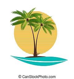 Palm Leaf Vector Illustration EPS10