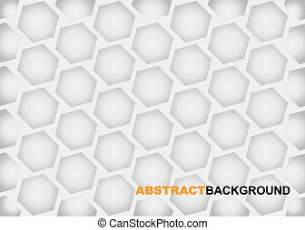 Vector honeycomb gray background