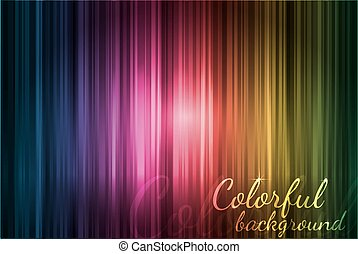 Colorful abstract lines on dark background