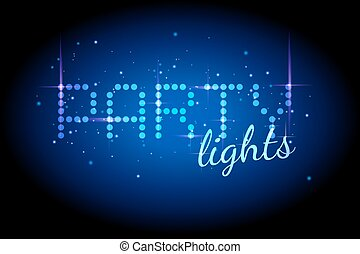 Party lights with sparkle