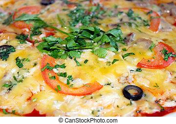 sabroso, apetitoso, pizza,
