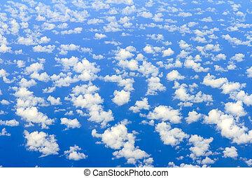 Ocean aerial clouds