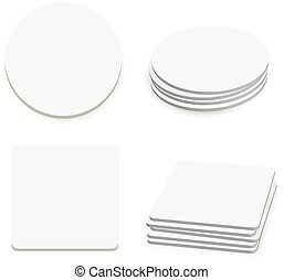 Round and square table coasters