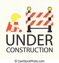 Under construction concept in flat design style, vector...