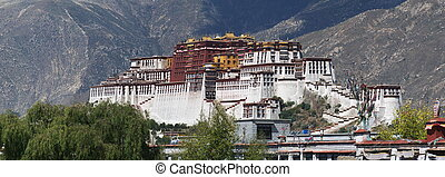 the Potala Palace - panorama of the Potala Palace