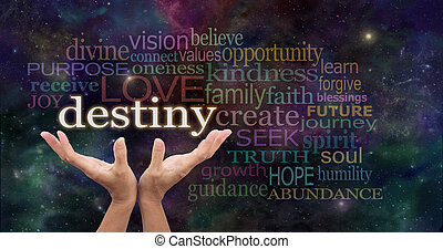 Your Destiny is in Your Hands - Female hands reaching up...