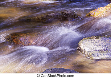 Silky rush of Raritan River waters - Picturesque and silky...