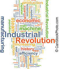 Industrial revolution background concept