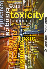 Toxicity background concept glowing - Background concept...