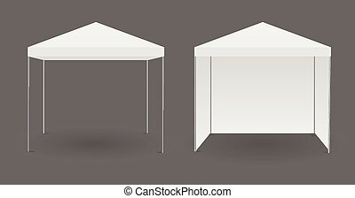 White canopy or tent, vector illustration.