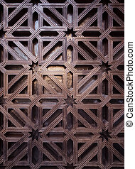 arabic pattern texture at Mosque Cordoba, Spain