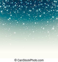 Festive background with sparkles and snow