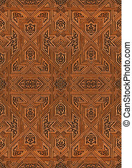 arabic pattern seamless texture at Alhambra palace in...
