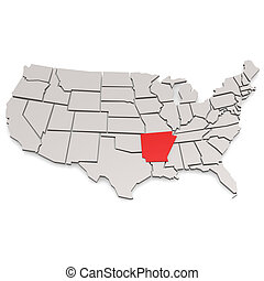 Arkansas map image with hi-res rendered artwork that could...