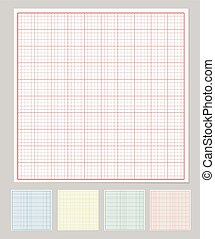 Graph paper set, vector illustration eps10
