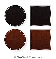 Round and square leather table coasters