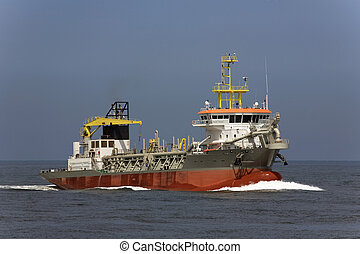 Dredger - trailing suction hopper dredger at open sea