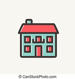 Real estate house thin line icon