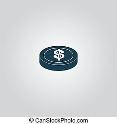 casino chip isolated - casino chip. Flat web icon or sign...