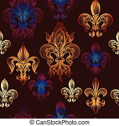 eraldic seamless wallpaper pattern