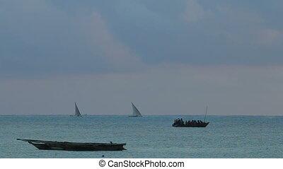 Zanzibar dhows at sunrise