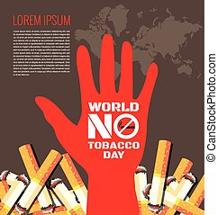 World No Tobacco Day background for World No Tobacco Day