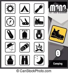 Mono Icons - Camping 1