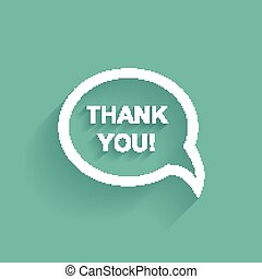 Vector speech bubbles thank you flat design
