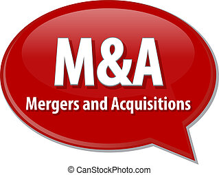 M&A acronym word speech bubble illustration - word speech...