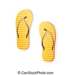 thongs - Yellow Thongs, Summertime Fun, Time For Vacation,...