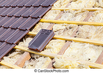 renovation of a brick tiled roof