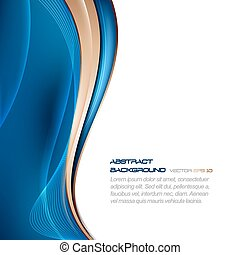 Abstract vector wavy background