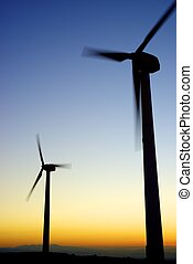 Wind energy - Windmills for electric power production, La...