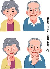 Elderly couple expression