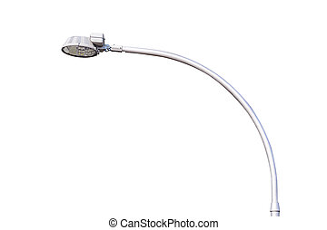 Street light isolated. - Street light isolated on a white...