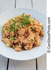 Larb, mince with spicy taste, Thai food